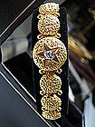 Victorian Gold and Diamond Bracelet with Star