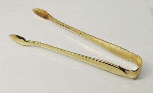 Tiffany & Co. 18 Karat Gold Sugar Tongs
