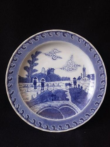 A Chinese Blue and White Export Plate,Qing Dynasty