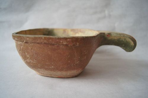 A Chinese green and brown glazed k'ui,Eastern Han