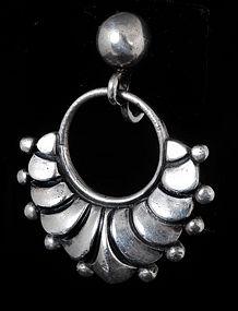 DRAMATIC MARGOT de TAXCO MEXICAN SILVER EARRINGS
