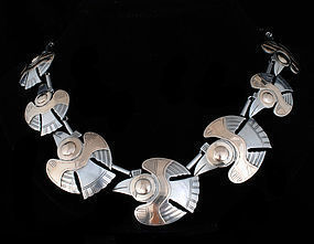 925 Sterling Silver Vintage Antique Fish Necklace Piece T1389