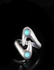 Sigi PINEDA Mexican Silver mod BOOMERANG RING