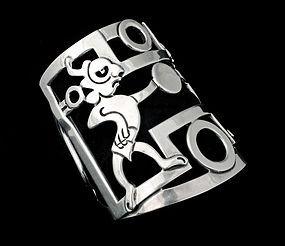 stupendous Rivera for Emma Mexican silver Cuff Bracelet