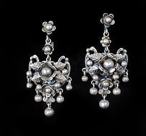 Deco Flli Peruzzi Italian 800 silver dangle Earrings