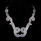 Los Castillo Mexican silver oxidized swirls Necklace