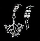 big Italian Deco 800 silver Cimaruta Necklace Peruzzi style