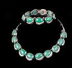 Antonio Pineda design Mexican silver Necklace Bracelet set