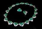 Ledesma Mexican silver azur-malachite Necklace Earrings set