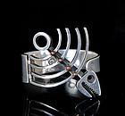 Los Castillo Mexican silver Clamper Bracelet ~ mod fish skeleton