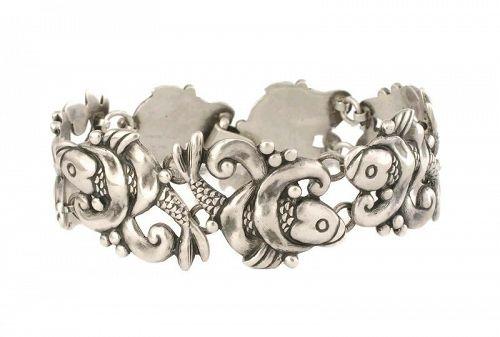 Los Castillo Mexican silver koi fish Bracelet des no 183