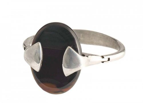 Franz Scheurle Germany silver and agate modernist Bracelet