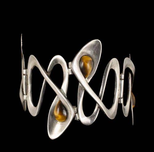 Erika Hult de Corral Ric Mexican silver tiger's eye Bracelet
