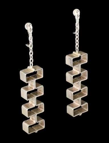 1950s Kupitaan Kulta sterling silver dangle Earrings Elis Kauppi