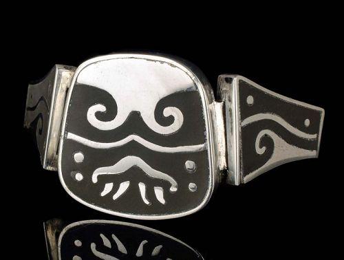 Los Castillo onix negro Mexican silver Bracelet