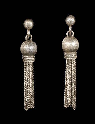"""2.25"""" Jacopo Mexican silver tassel Dangle Earrings"""
