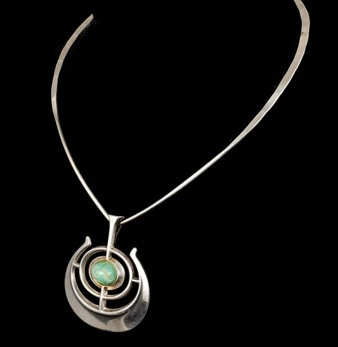 Ostern for David Andersen silver Pendant Necklace~ship of good fortune