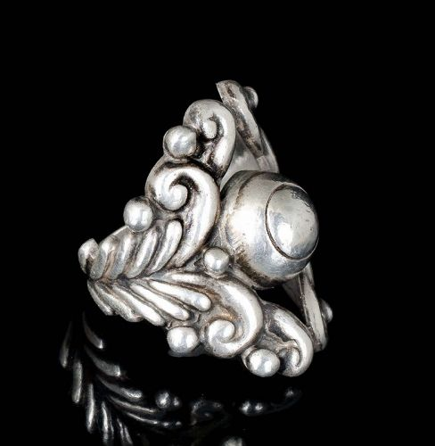 ornate Gerardo Lopez Mexican silver Ring