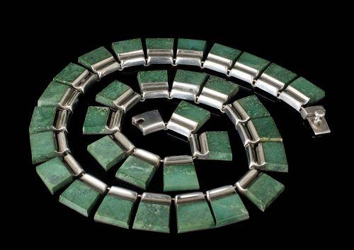 Enrique Ledesma Mexican silver modernist Necklace