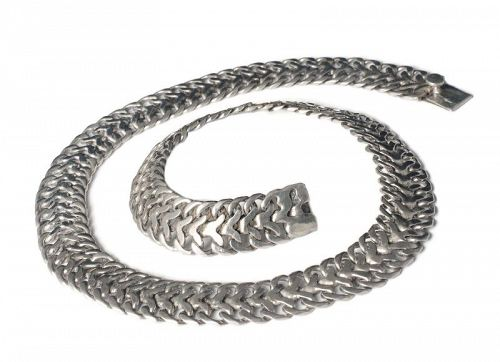 FarFan Far Fan Mexican silver mesh Necklace