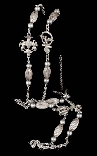 """39"""" Peruzzi Italian silver Roma Chain Necklace"""