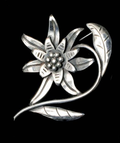 1940s Hector Aguilar Mexican silver Pin Brooch