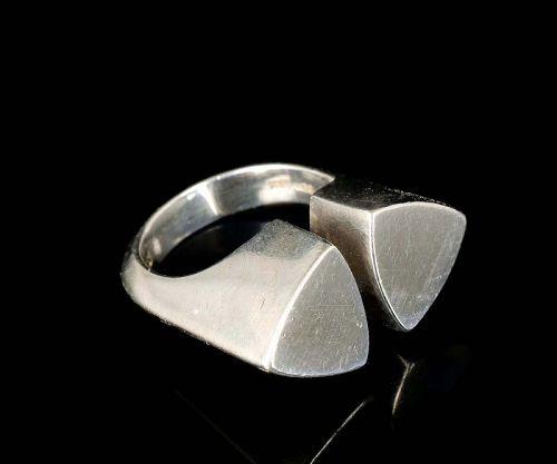 Hans Hansen Denmark sterling silver modernist Ring