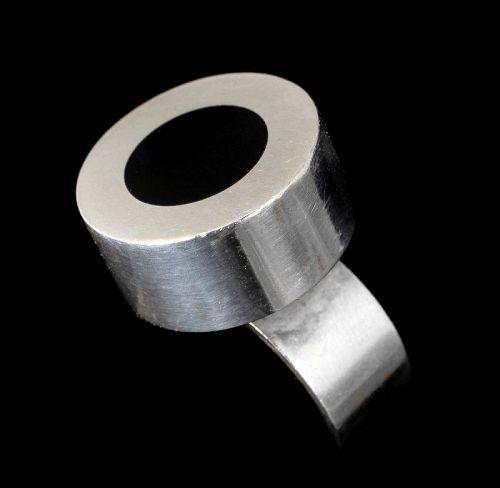 Hans Hansen Denmark silver black onyx modernist Ring
