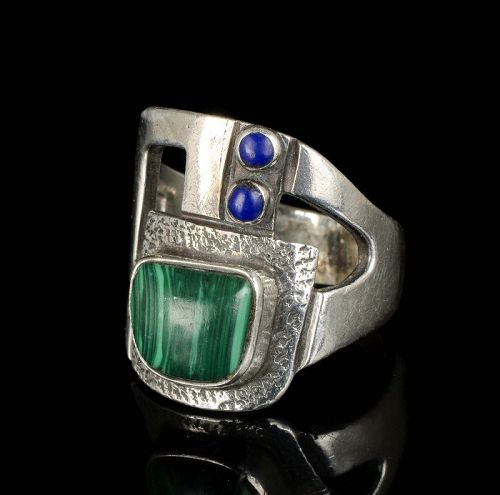 Erika Hult de Corral Ric Mexican silver modernist Ring