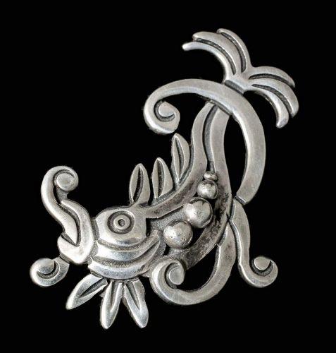Francisco Rivera Mexican Deco silver koi fish Pin Brooch