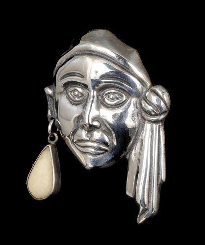 Horacio de la Parra Mexican silver pirate Pin Brooch