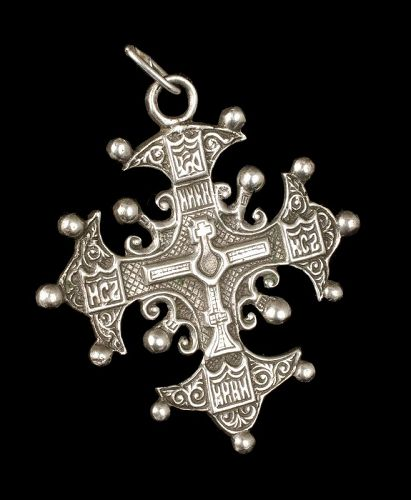 "2.5"" Coppini Italian 800 silver Renaissance Revival cross Pendant"