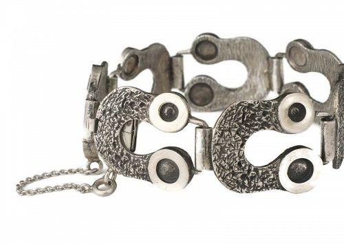 vintage 835 European / German silver modernist Bracelet