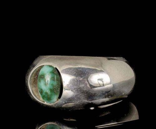 Antonio Pineda 970 silver agate modernist Cuff Bracelet