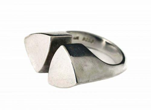 slick Hans Hansen Denmark sterling silver modernist Ring
