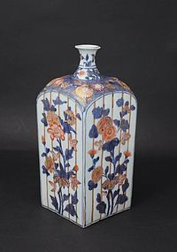 Japan Genroku Period 1700's Imari Tokkuri Sake Bottle