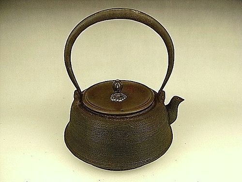 Japanese E. 20th C. Iron Tea Kettle
