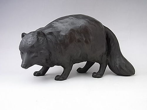 Japanese Early-Mid 20th C. Bronze Tanuki Badger
