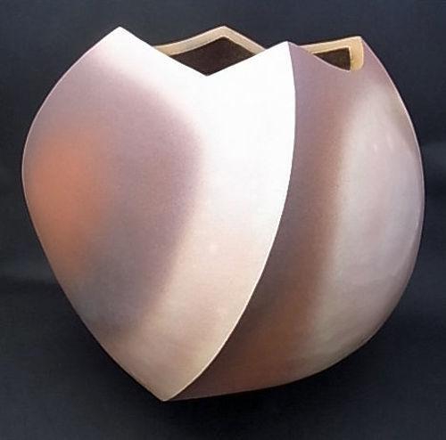 Japanese 21st C. ceramic vase by YAMATO TSUTOMU