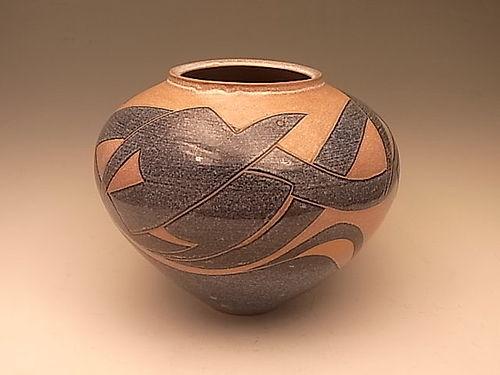 Japanese 20th C. Ceramic Vase by Sugita Eisuke