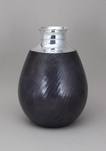 Japanese Mid 20th Century Silver Vase by LNT Sekiya Shiro