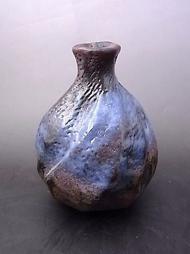 Japanese 20th-21st C. Ceramic Sake Bottle by Hayashi Shotaro