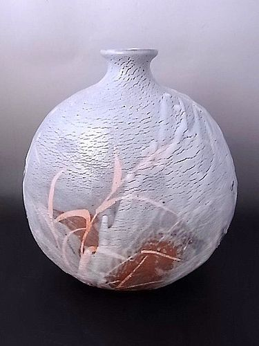 Japanese 20th-21st C. Large Ceramic Vase by Hayashi Shotaro