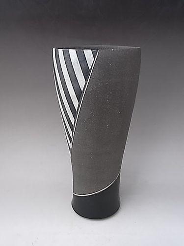 Japanese L. 20th C. Ceramic Vase by Kikuchi Hiroshi