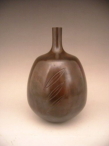 Japanese 20th C. Bronze Vase by LNT Takamura Toyochika (1890-1972)