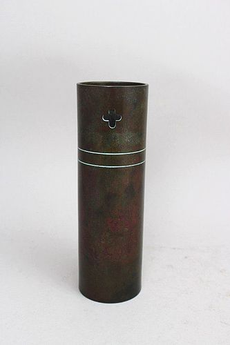 Japanese 20th C. Bronze Vase by NAGAYOSHI