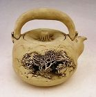 Japanese Early 20th Century Niroku-yaki Teapot by Sasaki Niroku I