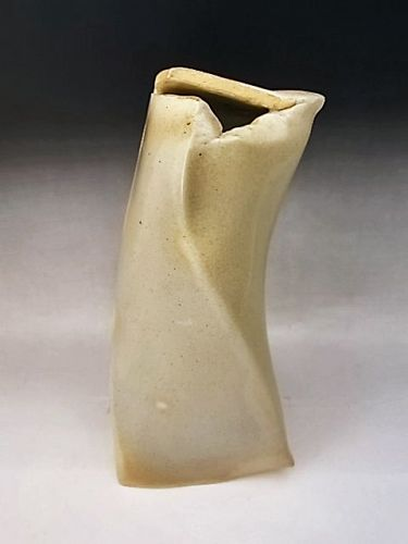Japanese 20th Century Hagi Ware Modernist Vase by Noho