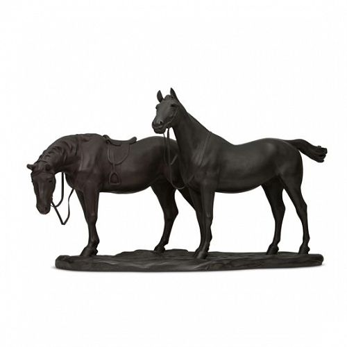 Japanese E. 20th Century Bronze Pair of Horse by Yamamoto Kozan