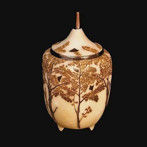 Japanese 20th Century Cloisonné Enamel Koro